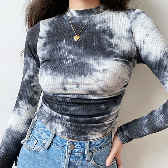Load image into Gallery viewer, Her Personality Tie-Dye Drawstring Shirt ~ HANDMADE