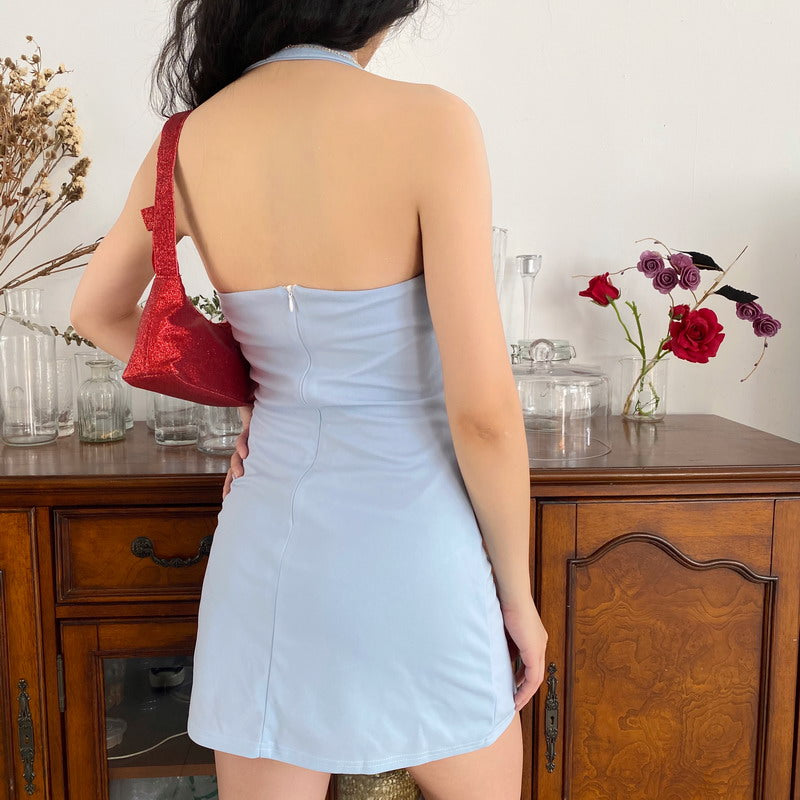 Load image into Gallery viewer, Belle Pin Up Halter Dress ~ HANDMADE - Pellucid