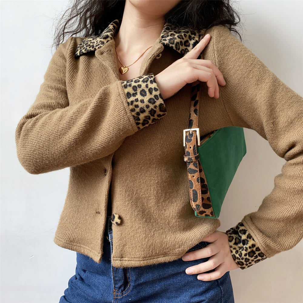 Load image into Gallery viewer, 90s Leopard Lapel Jacket ~ HANDMADE