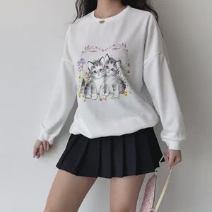 Load and play video in Gallery viewer, Nana's Cat Pullover Sweater