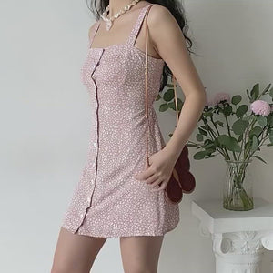 Load and play video in Gallery viewer, Nia Leopard Button Slip Dress ~ HANDMADE