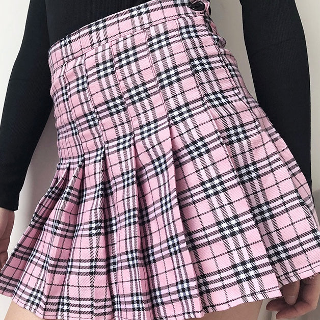 Load image into Gallery viewer, Nova Check Tennis Skirt - Pellucid