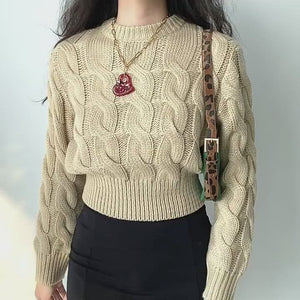 Load and play video in Gallery viewer, Myra Cable Knit Sweater