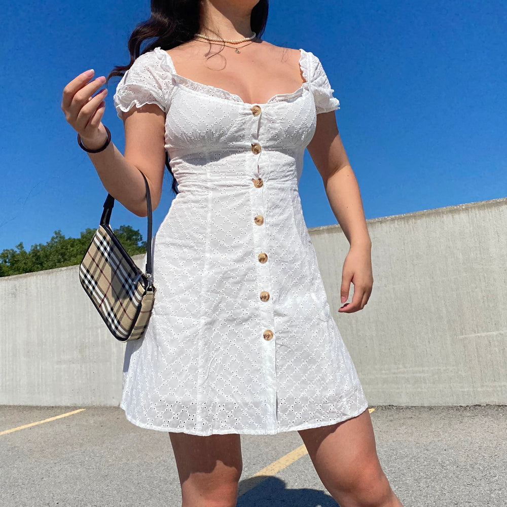 Hope Bustier Eyelet Dress ~ HANDMADE