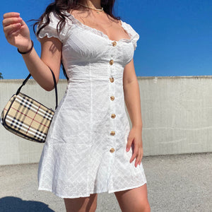 Load image into Gallery viewer, Hope Bustier Eyelet Dress ~ HANDMADE