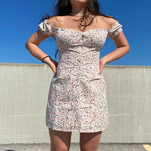 Load image into Gallery viewer, Isabella Floral Bustier Dress ~ HANDMADE