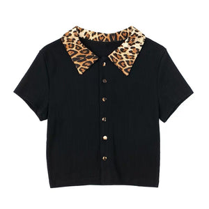 Load image into Gallery viewer, Leopard Collar Polo - Pellucid