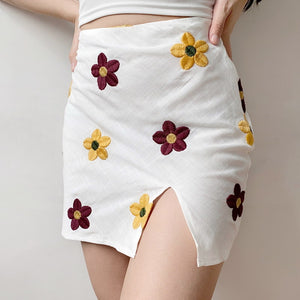 Flower-girl Split Skirt - Pellucid