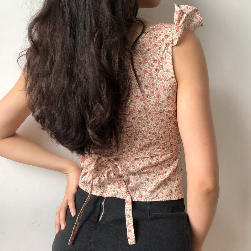 Load image into Gallery viewer, Amelie Floral Lace Tank [Handmade] - Pellucid