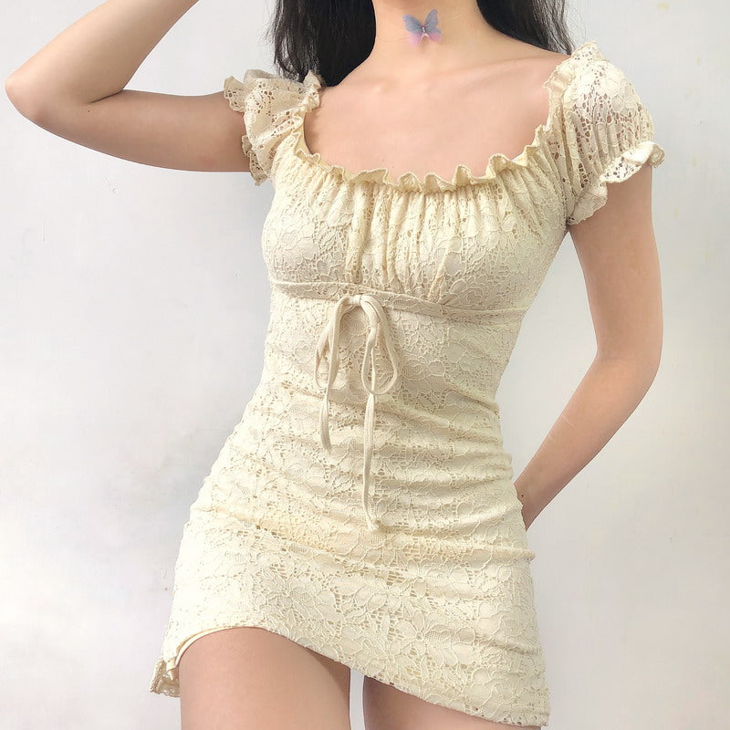 Cream Tea Lace Dress
