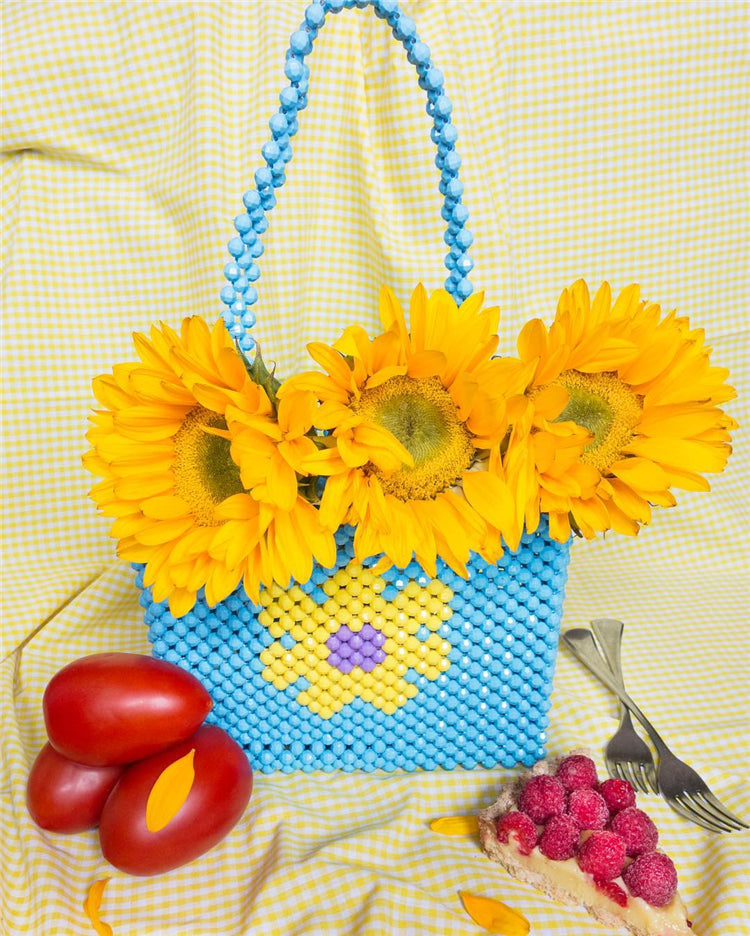 Flower Beaded Bag [Handmade]