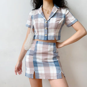 Load image into Gallery viewer, Beatrice Plaid Set [Handmade] - Pellucid