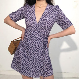 Argentina Wrap Dress // Purple - Pellucid