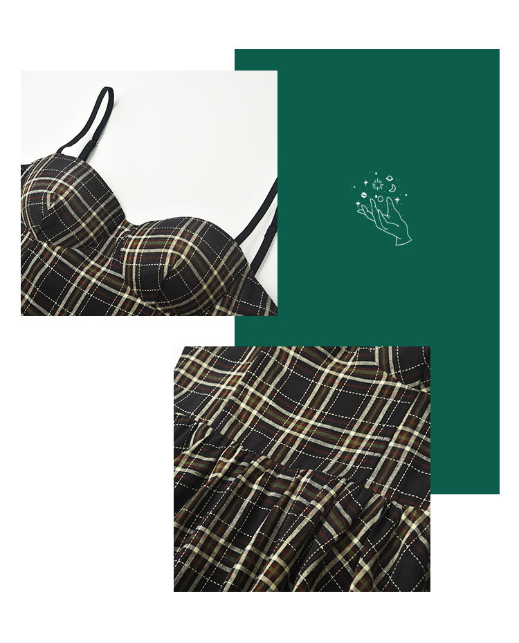 Load image into Gallery viewer, Polly Plaid Bustier Dress ~ HANDMADE