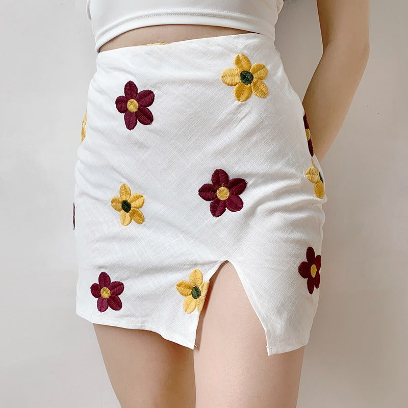Load image into Gallery viewer, Flower-girl Split Skirt - Pellucid