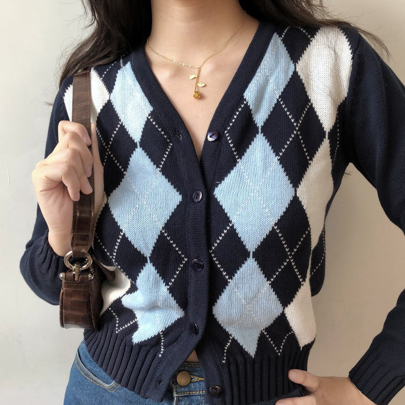 Load image into Gallery viewer, Beth Argyle Cardigan - Pellucid