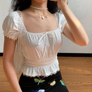 Belle Broderie Lace Top - Pellucid