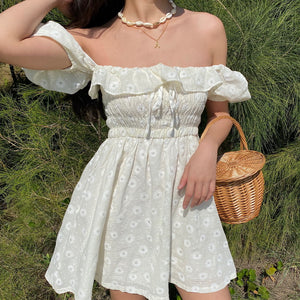 Bohemian Ruffled Floral Dress - Pellucid