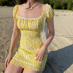 Wild Chrysanthemum Lace Dress ~ HANDMADE