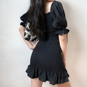 Emilia Ruffle Puff Sleeve Dress [Handmade] - Pellucid