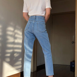 Classic Tapered Mom Jeans - Pellucid