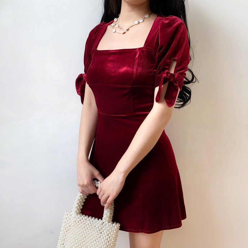 Load image into Gallery viewer, Cambrie Velvet Dress - Pellucid