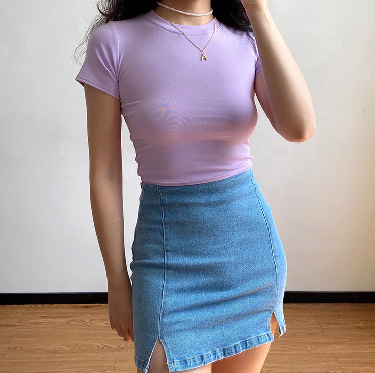 Denim Split Skirt - Pellucid