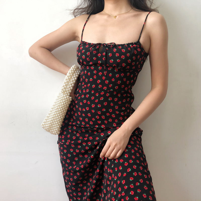 Vintage Capsule Rose Midi Dress - Pellucid