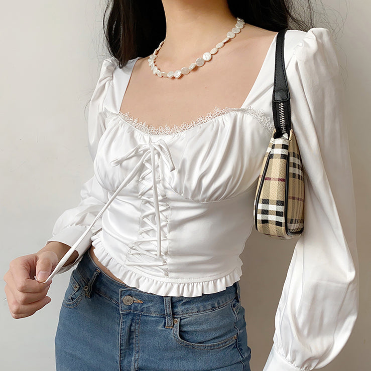 Load image into Gallery viewer, Vintage Court Style Corset Top [Handmade] - Pellucid