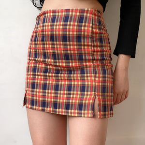 Load image into Gallery viewer, Rollergirl Cara Plaid Skirt - Pellucid