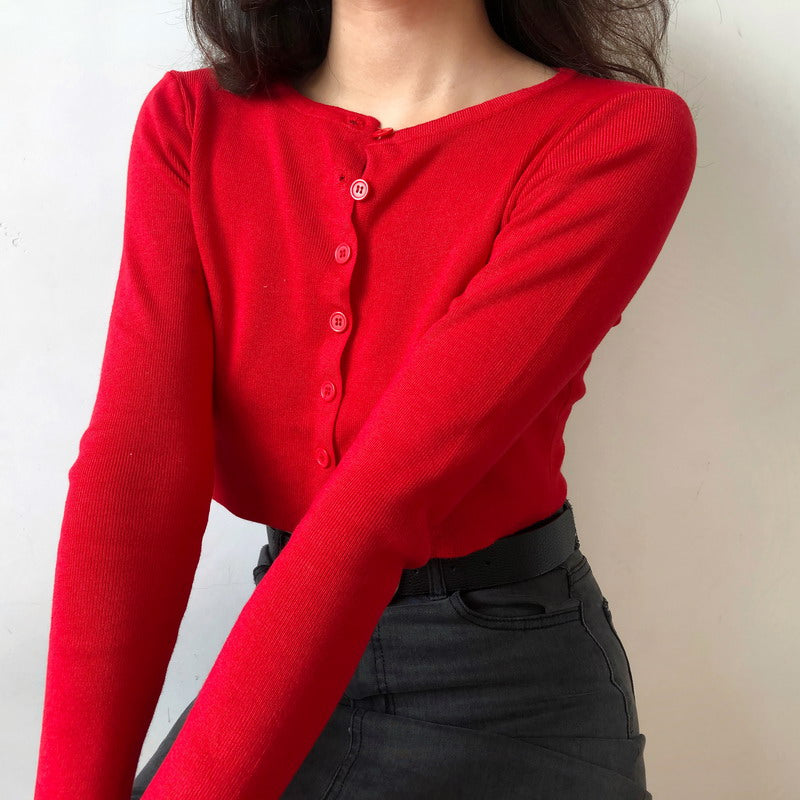 Athena Knit Top // Red