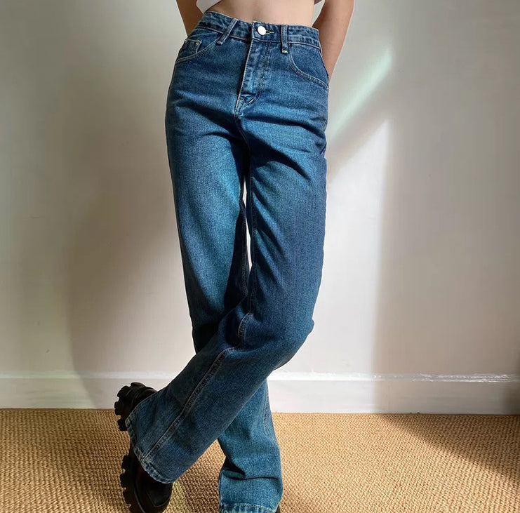 Key And Lock Straight Jeans