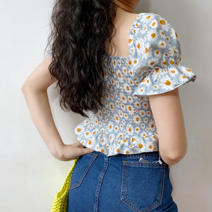 Load image into Gallery viewer, Bethany Ruffled Daisy Top - Pellucid