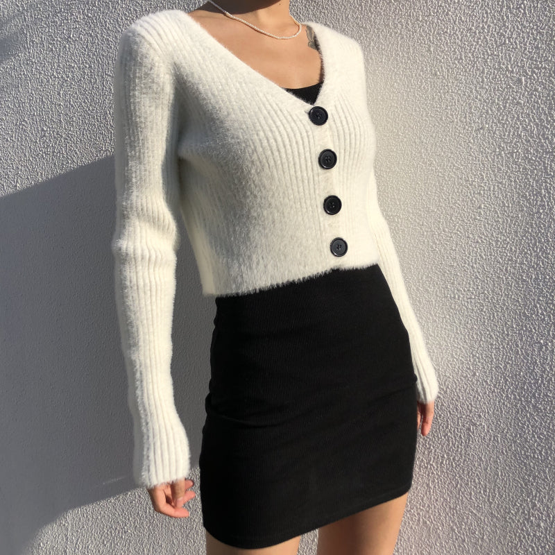 Load image into Gallery viewer, Tara Fuzzy Cardigan - Pellucid