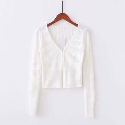 Load image into Gallery viewer, Knitted Clasp Open Cardigan - Pellucid