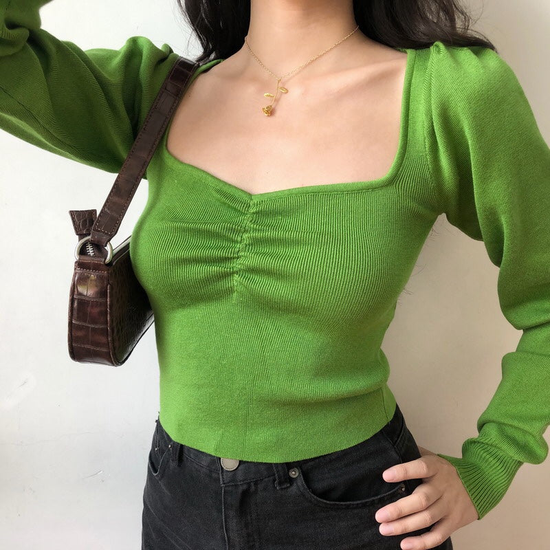 Load image into Gallery viewer, Green Oxford Knit Sweater [Handmade] - Pellucid