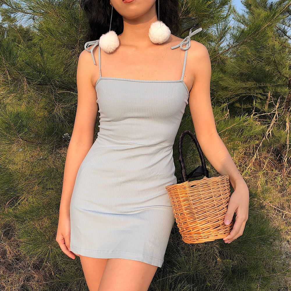 Annette Knit Cami Dress - Pellucid