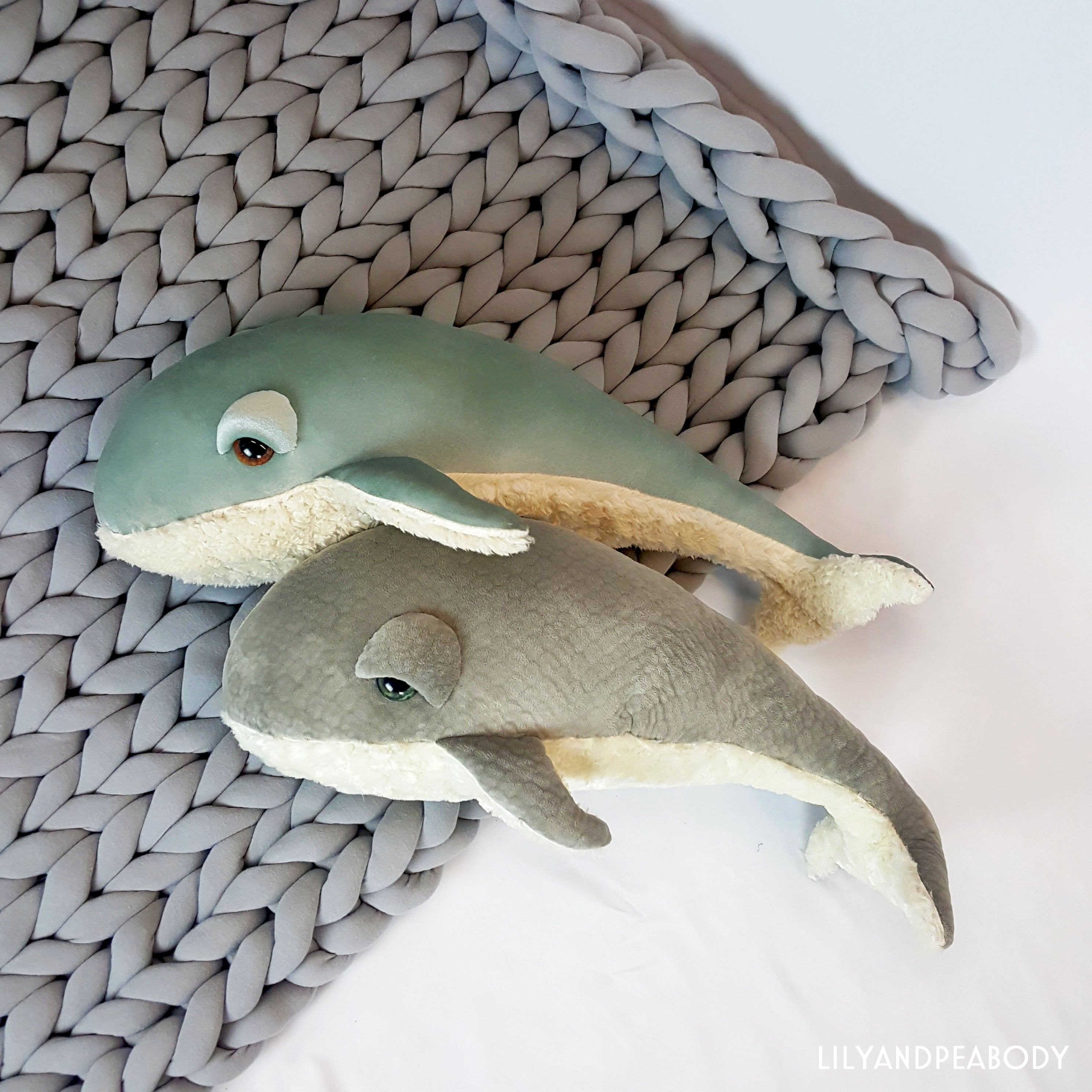 Whale Plush Sea Creature Stuffed Animal Set