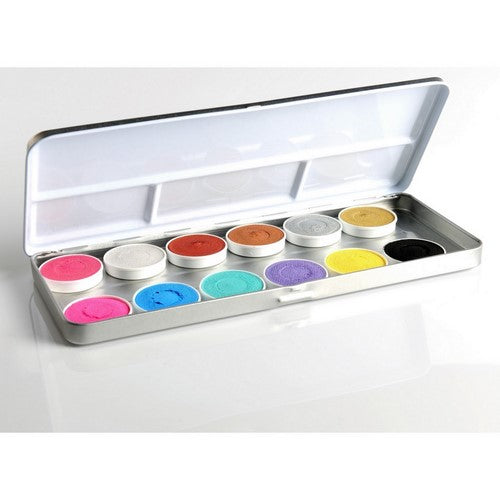 metallic face paint palette