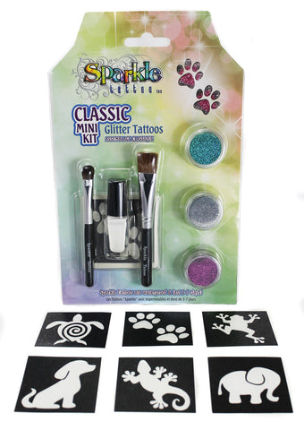 Classic Mini Stencil Kit - Glitter Tattoo