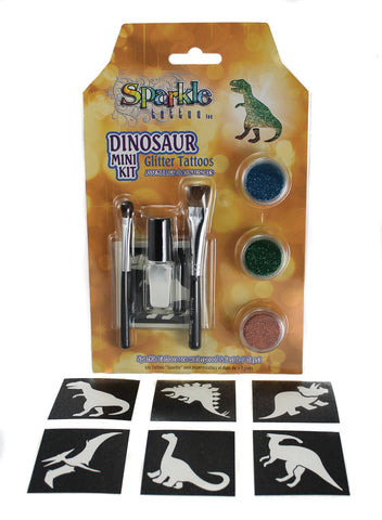 Dinosaur Mini Stencil Kit - Glitter Tattoo
