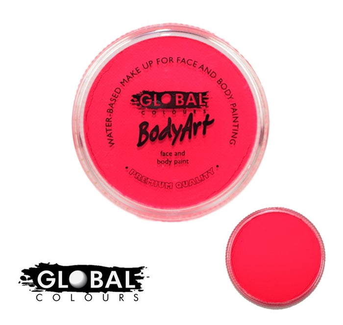 bright neon pink face paint