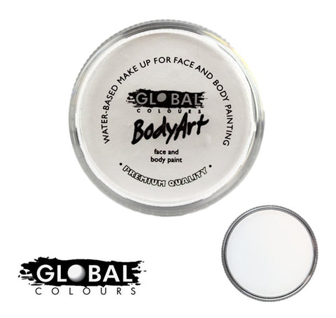 Global Body Art Face Paint - Standard White 32g
