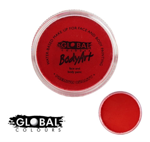 Global Body Art Face Paint - Standard Red 32g