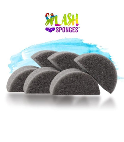 Splash Sponges by Jest Paint - Half Round (6 pack)