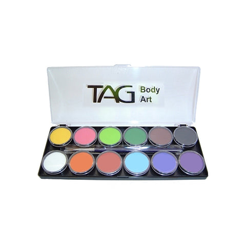 TAG Regular Palette (12 Colors & 2 brushes) Face and Body Paint
