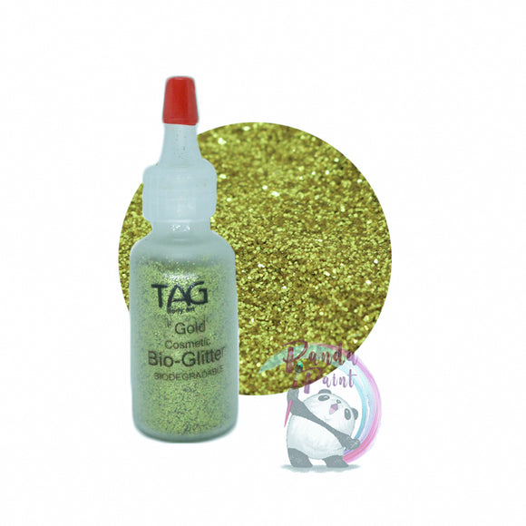 TAG Cosmetic Bio-Glitter Gold 15ml (12g) Puffer Bottle