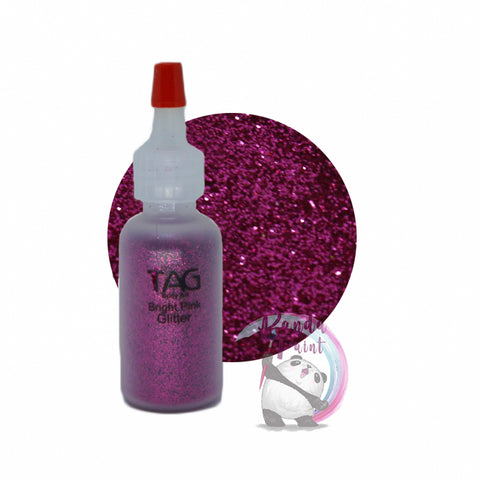 TAG Bright Pink Glitter 15ml (12g) Puffer Bottle