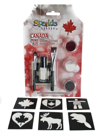 Canada Day Mini Stencil Kit - Glitter Tattoo