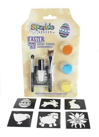 Easter Mini Stencil Kit - Glitter Tattoo